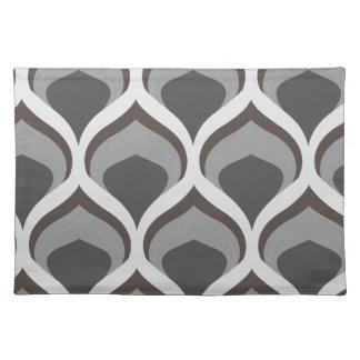 gray geometric drops placemat