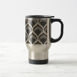 gray geometric drops travel mug