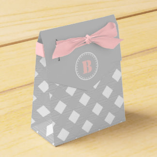 Gray Gingham Checkered Pattern Favor Box Party Favour Box