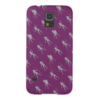 Gray Girls Pattern Samsung Galaxy S5 Case