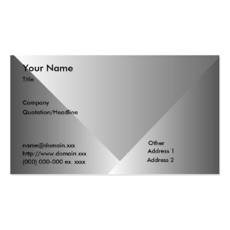 Gray Gradient-Business Pack Of Standard Business Cards