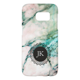 Gray & Green Marble Monogram