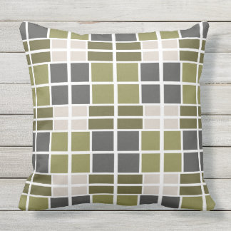 Gray green Scot Outdoor Cushion