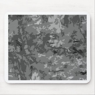 Gray Grey Camo Camouflage Design Pattern Mousepad
