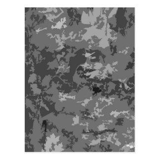 Gray Grey Camo Camouflage Design Pattern Postcard