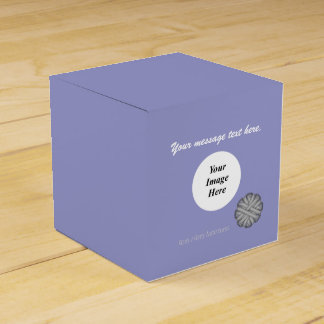 Gray / Grey Flower Ribbon Template Favour Boxes
