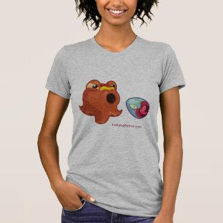 Gray Grey Hotdogtopus Octopus T-shirt With Egg