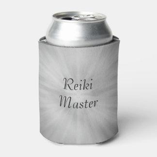 Gray grey Silver Reiki Master design Can Cooler