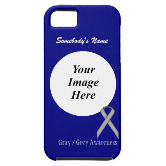 Gray / Grey Standard Ribbon by Kenneth Yoncich iPhone 5 Cases