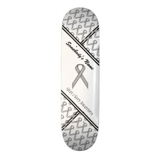 Gray / Grey Standard Ribbon Skateboard Decks
