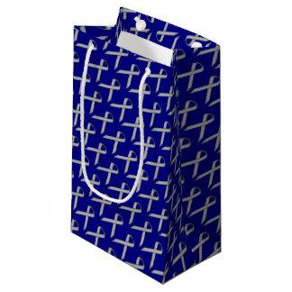 Gray / Grey Standard Ribbon Small Gift Bag
