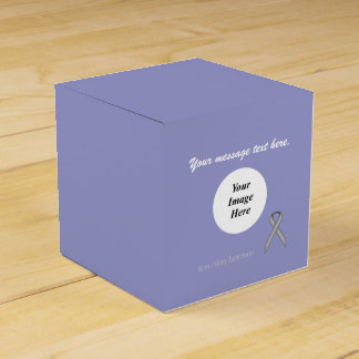 Gray / Grey Standard Ribbon Template Party Favour Boxes