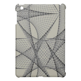 Gray grid ipad Case