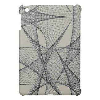 Gray grid ipad Case