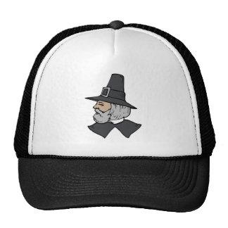 Gray Haired Pilgrim Trucker Hat