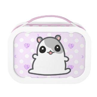 Gray Hamster Purple Heart Lunchbox