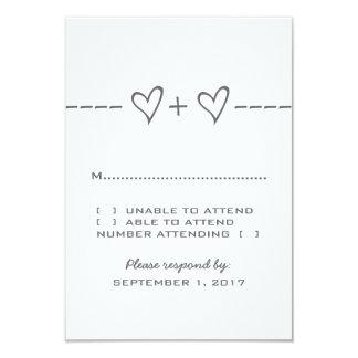 Gray Heart Equation Response Card