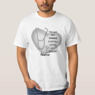 Gray Heart RN Nurse Value T-Shirt