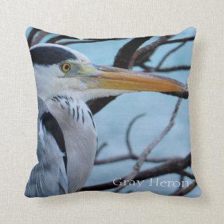 Gray Heron Cushion
