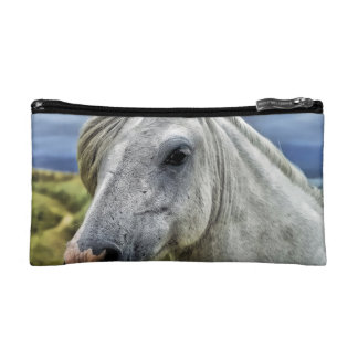 Gray Horse Face Cosmetic Bag