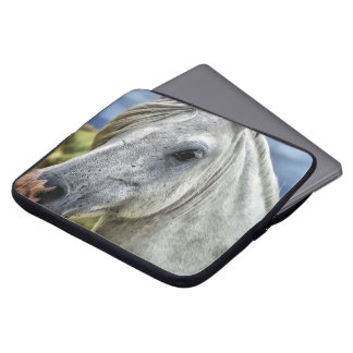 Gray Horse Face Laptop Sleeve