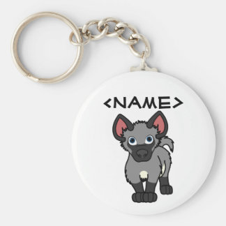 Gray Hyena Cub Key Ring