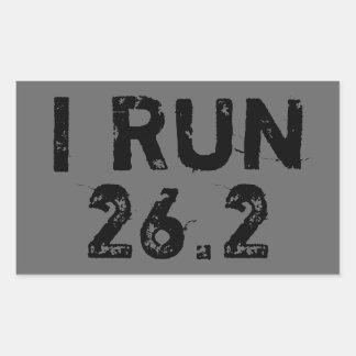 Gray I Run 26.2 Sticker