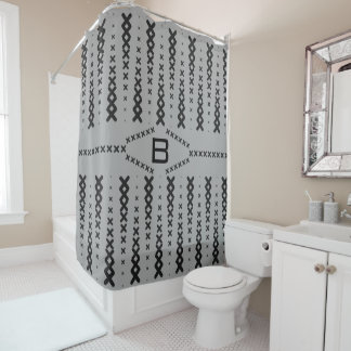 Gray Interpolated X's shower curtain