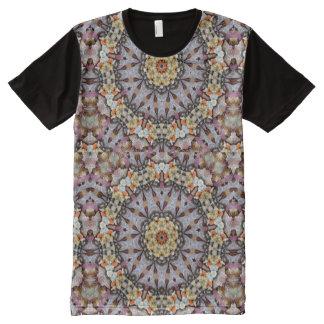 Gray Kaleidoscope All-Over Print T-Shirt