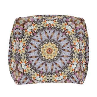 Gray Kaleidoscope Pouf