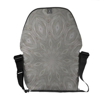 Gray Kaleidoscope Rickshaw Messenger Bag