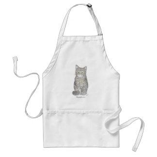 Gray Kitten Apron