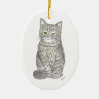 Gray Kitten Ornament