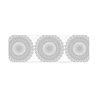 Gray Lace Design Pattern. Return Address Label
