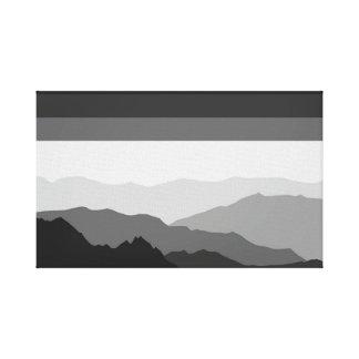 Gray Land Canvas Print