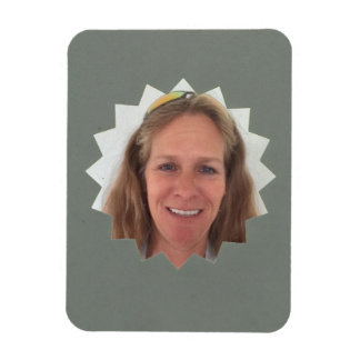Gray Large Sun Photo Frame Magnet