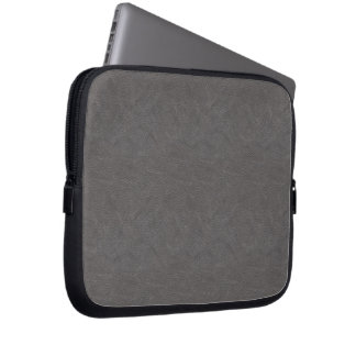 Gray Leather-look Electronics Laptop Sleeve