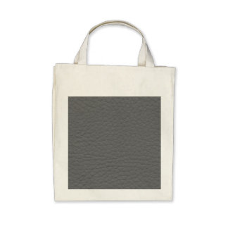 Gray Leather Texture Canvas Bag