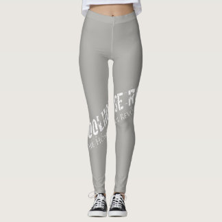 Gray Leggins with Wraparound Logo Leggings
