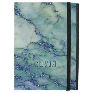 Gray & Light-Green Marble Stone Print