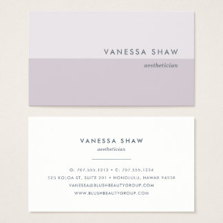 Gray Lilac | Modern Colorblock Business Card