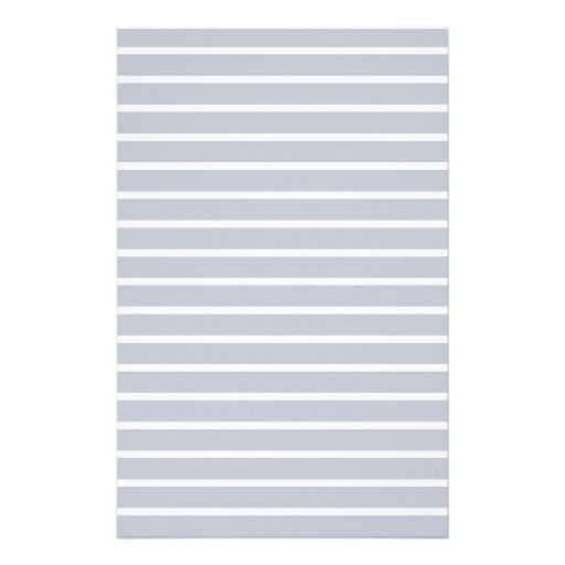 Gray Lined Paper Stripes Notes Stationery