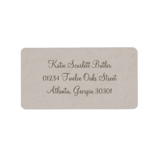 Gray Little Prince Baby Shower Address Labels