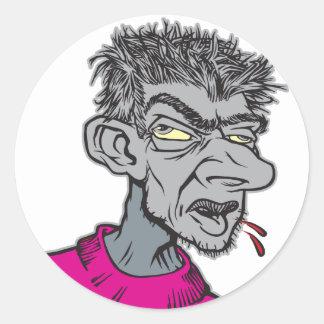 Gray Man Round Stickers