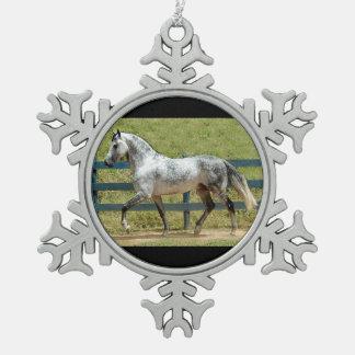 Gray Mangalarga Stallion Christmas Ornament