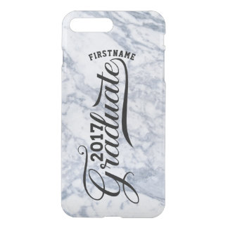 Gray Marble Graduate 2017 Modern Typography iPhone 8 Plus/7 Plus Case