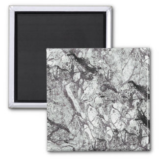Gray Marble Look Square Magnet