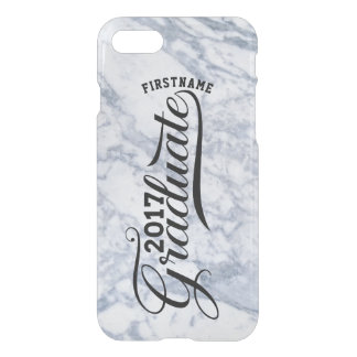 Gray Marble Modern Typography Graduate 2017 iPhone 8/7 Case