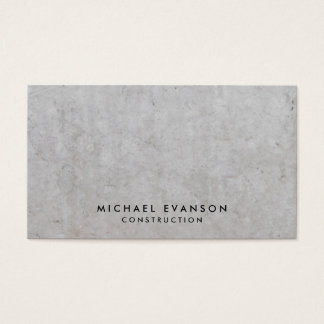 Gray Marble Stone Pattern Simple Construction Business Card