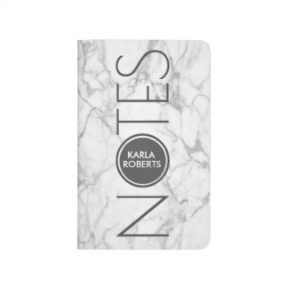 Gray Marble Text Template Journal